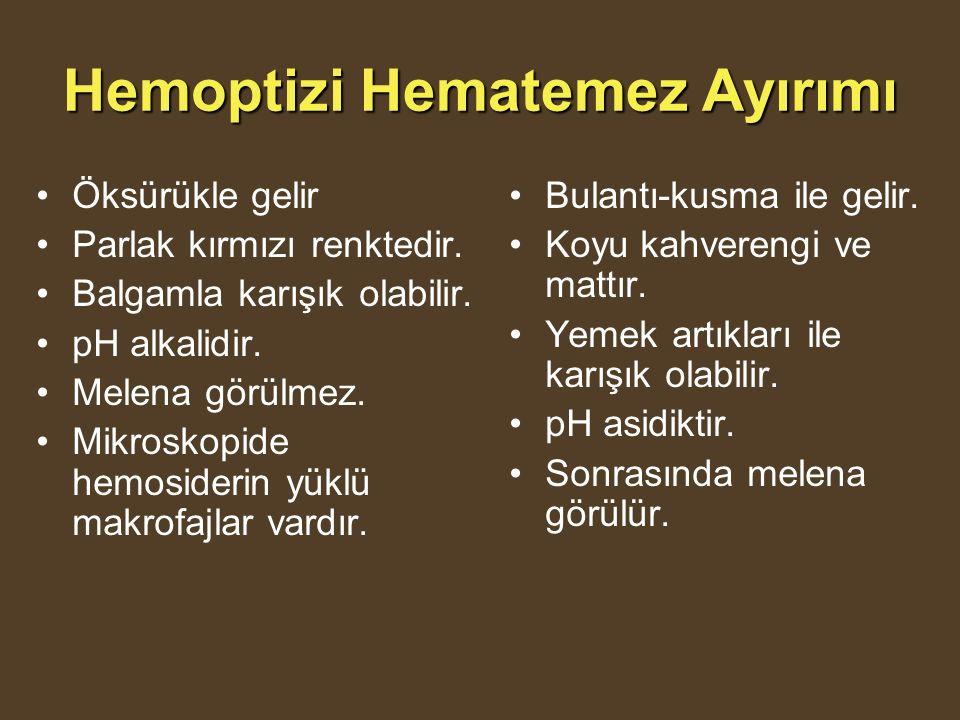 Hemoptizi Hematemez Ayırımı