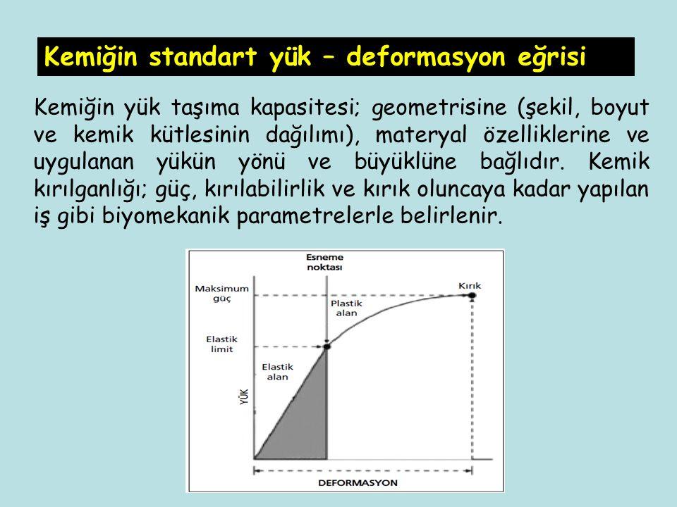 Kemiğin standart yük – deformasyon eğrisi