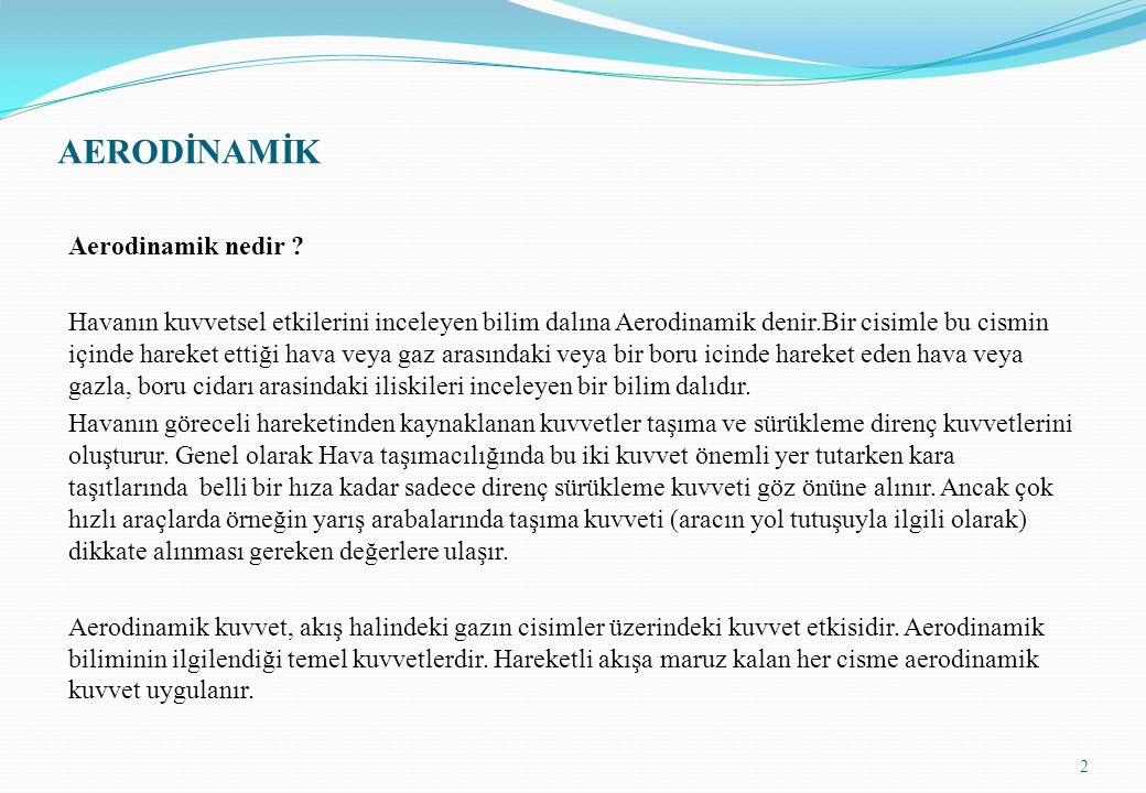 AERODİNAMİK