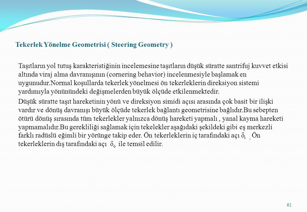 Tekerlek Yönelme Geometrisi ( Steering Geometry )