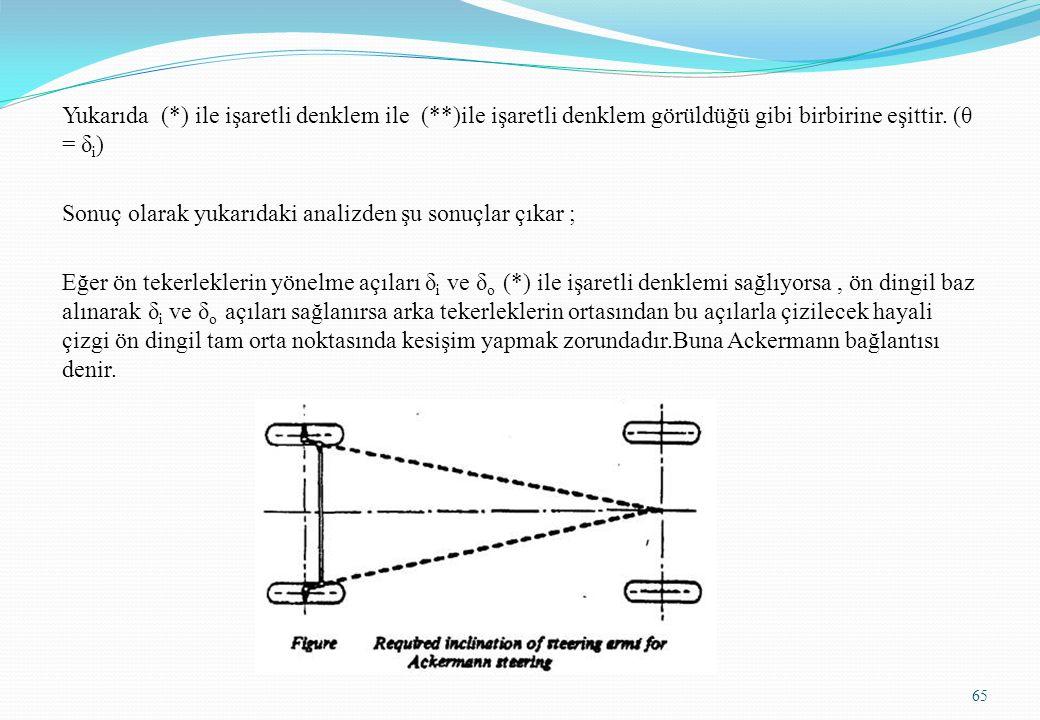 Yukarıda (. ) ile işaretli denklem ile (