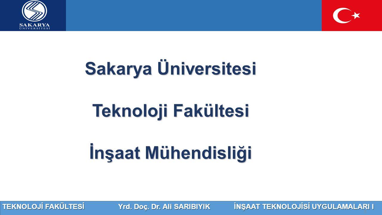 Sakarya Üniversitesi Teknoloji Fakültesi İnşaat Mühendisliği