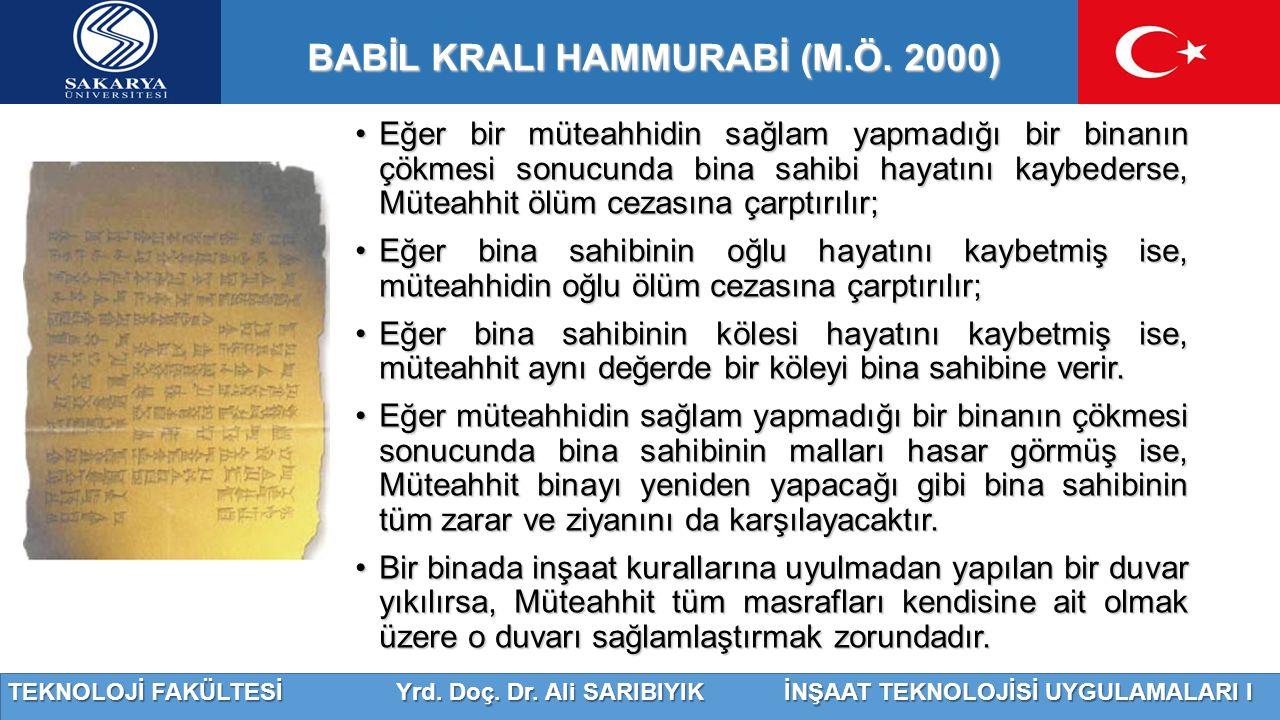 BABİL KRALI HAMMURABİ (M.Ö. 2000)