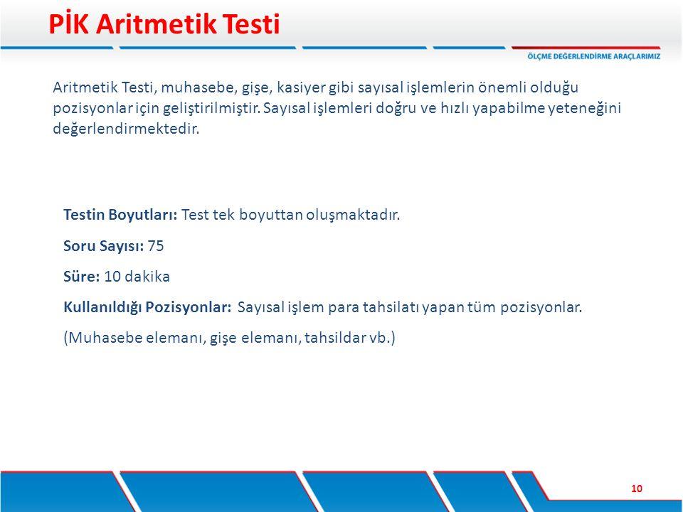 PİK Aritmetik Testi