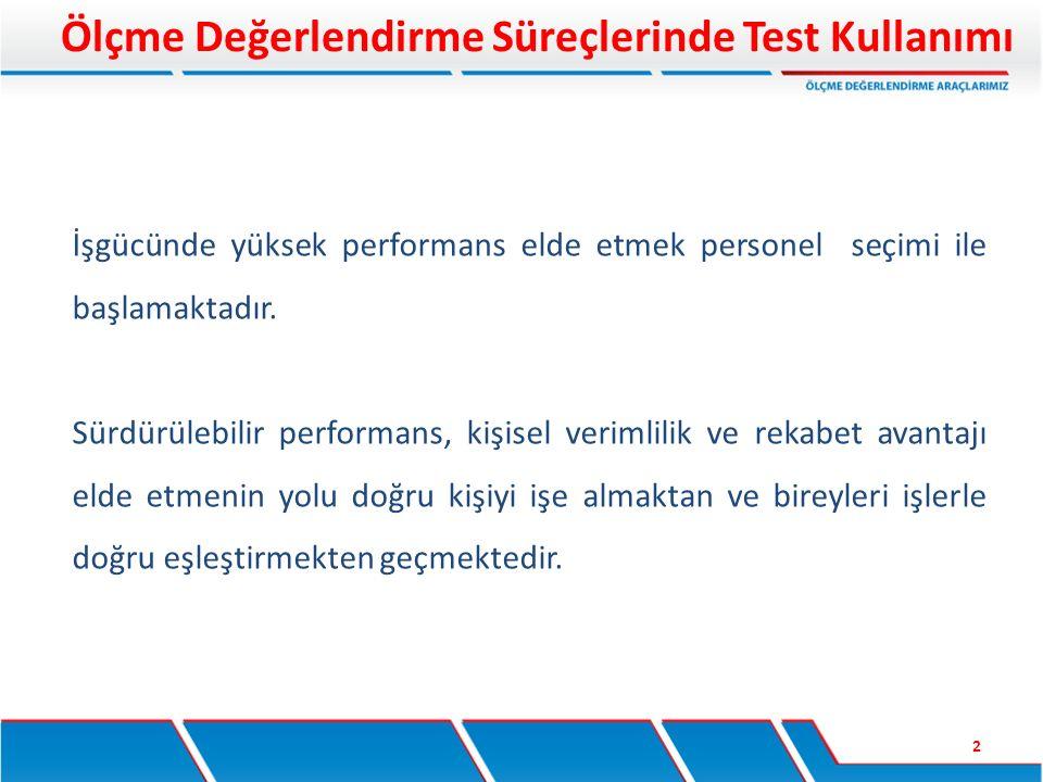 Ölçme Değerlendirme Süreçlerinde Test Kullanımı