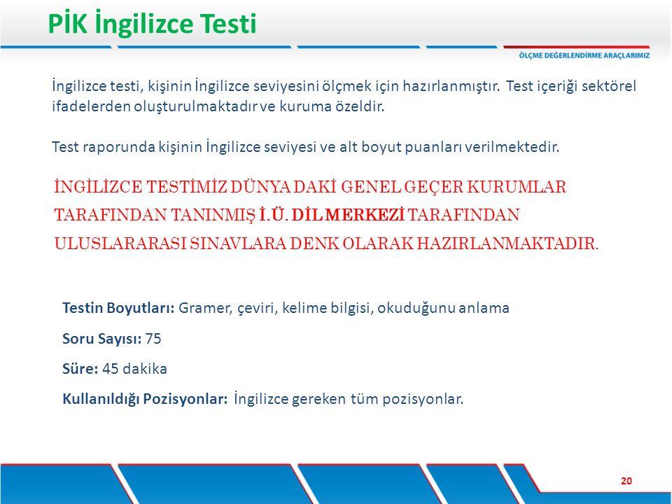 PİK İngilizce Testi