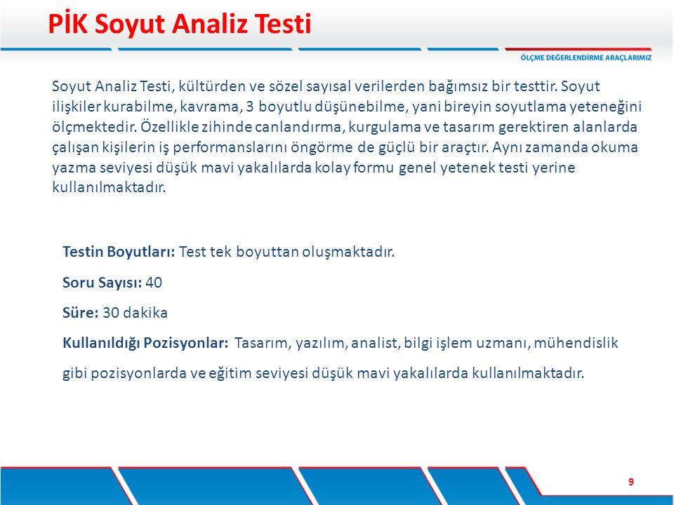 PİK Soyut Analiz Testi