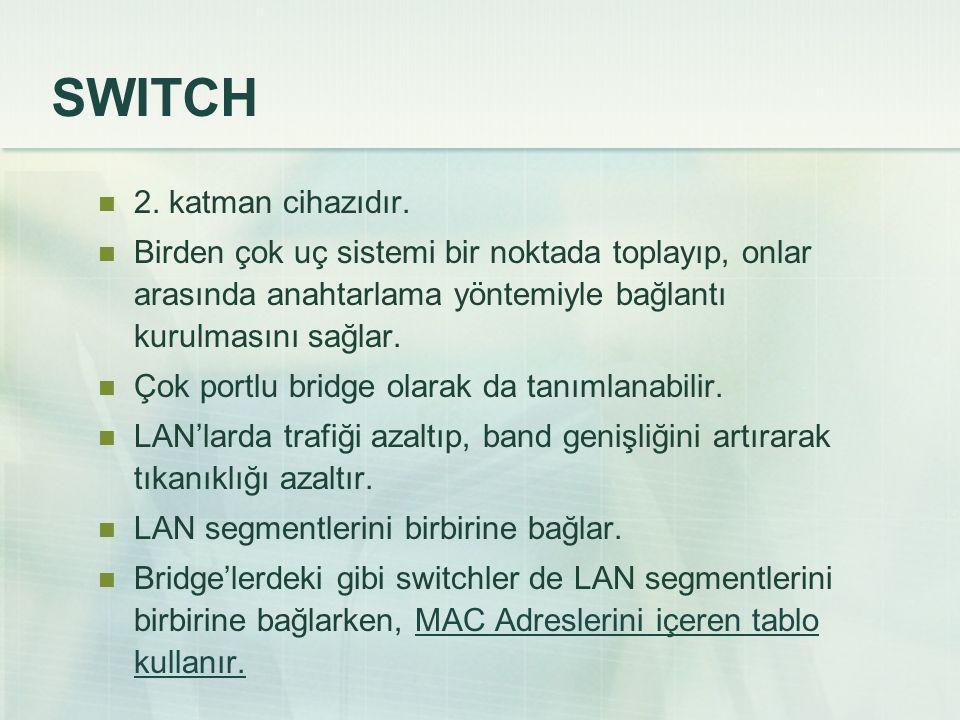 SWITCH 2. katman cihazıdır.