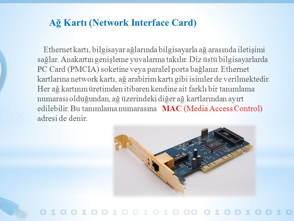 Ağ Kartı (Network Interface Card)