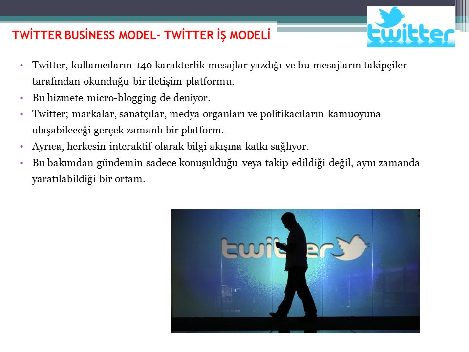 TWİTTER BUSİNESS MODEL- TWİTTER İŞ MODELİ