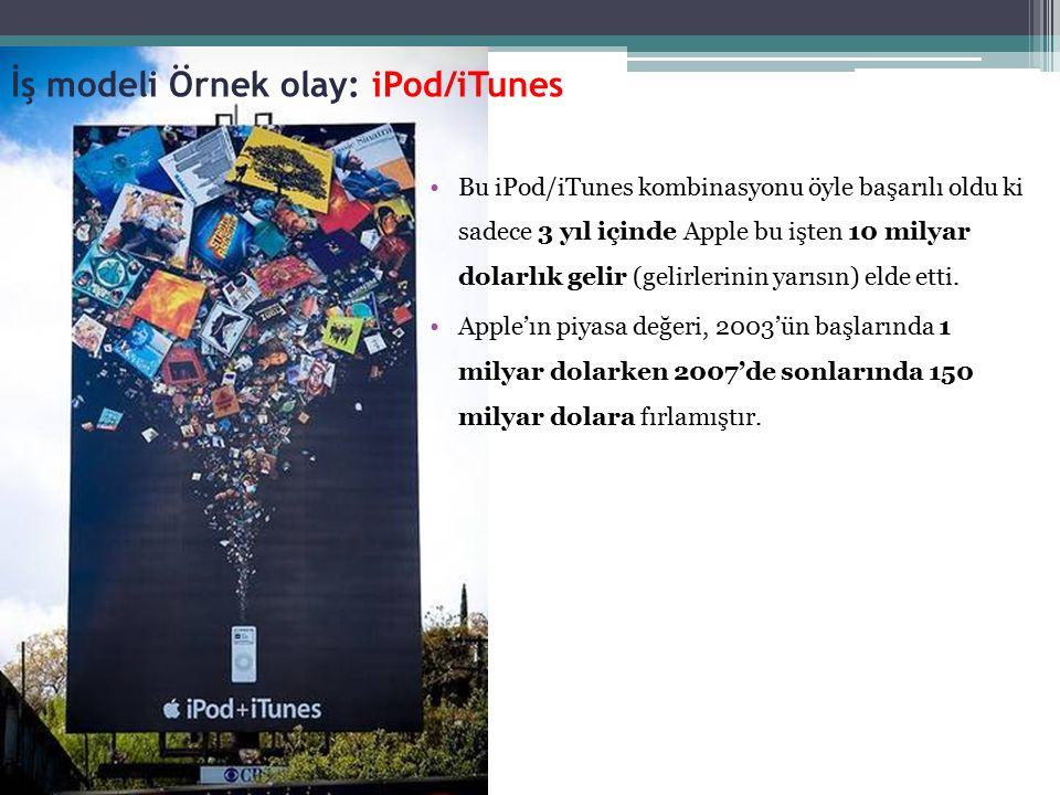 İş modeli Örnek olay: iPod/iTunes
