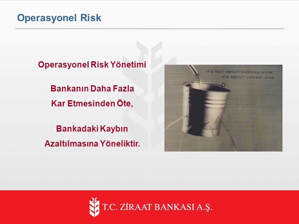 Operasyonel Risk Yönetimi Azaltılmasına Yöneliktir.