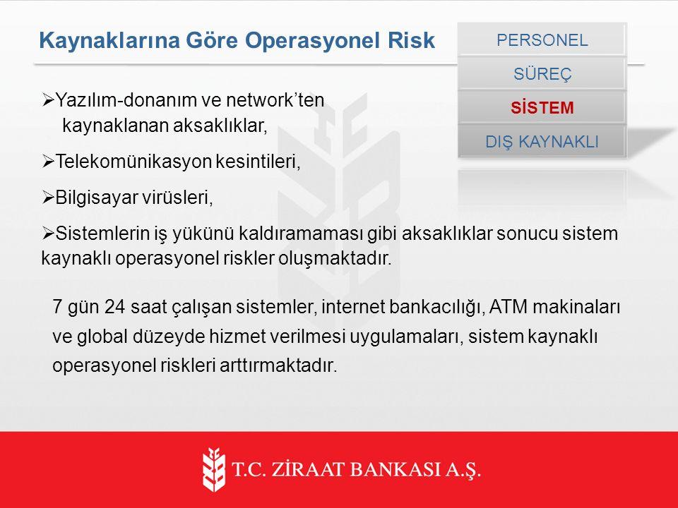 Kaynaklarına Göre Operasyonel Risk