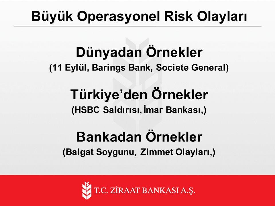 Büyük Operasyonel Risk Olayları