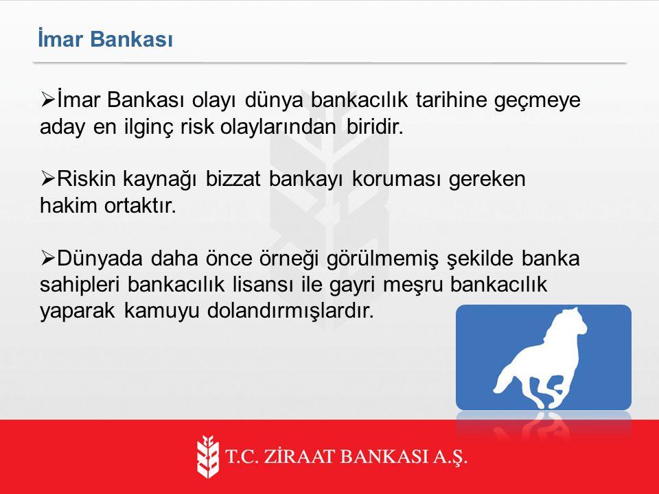 İmar Bankası İmar Bankası olayı dünya bankacılık tarihine geçmeye aday en ilginç risk olaylarından biridir.