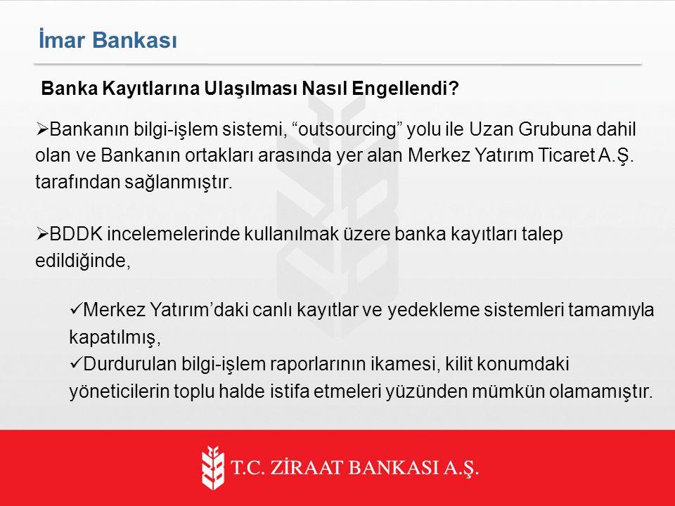 İmar Bankası Banka Kayıtlarına Ulaşılması Nasıl Engellendi