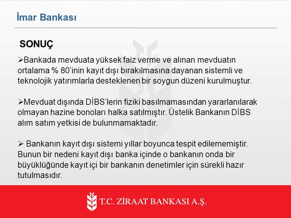 İmar Bankası SONUÇ.