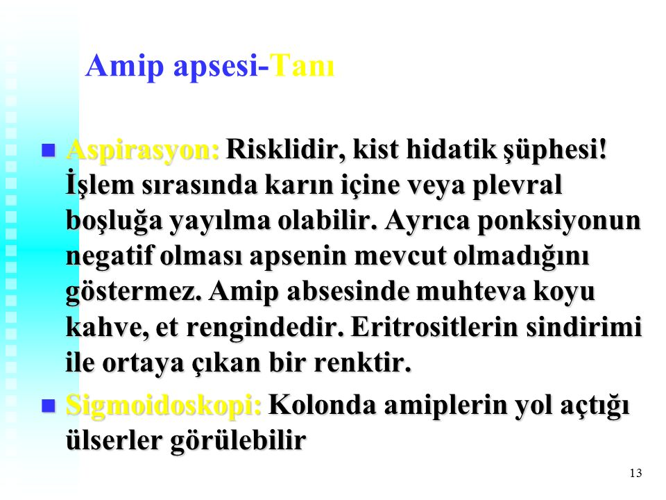 Amip apsesi-Tanı