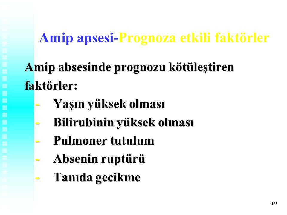 Amip apsesi-Prognoza etkili faktörler