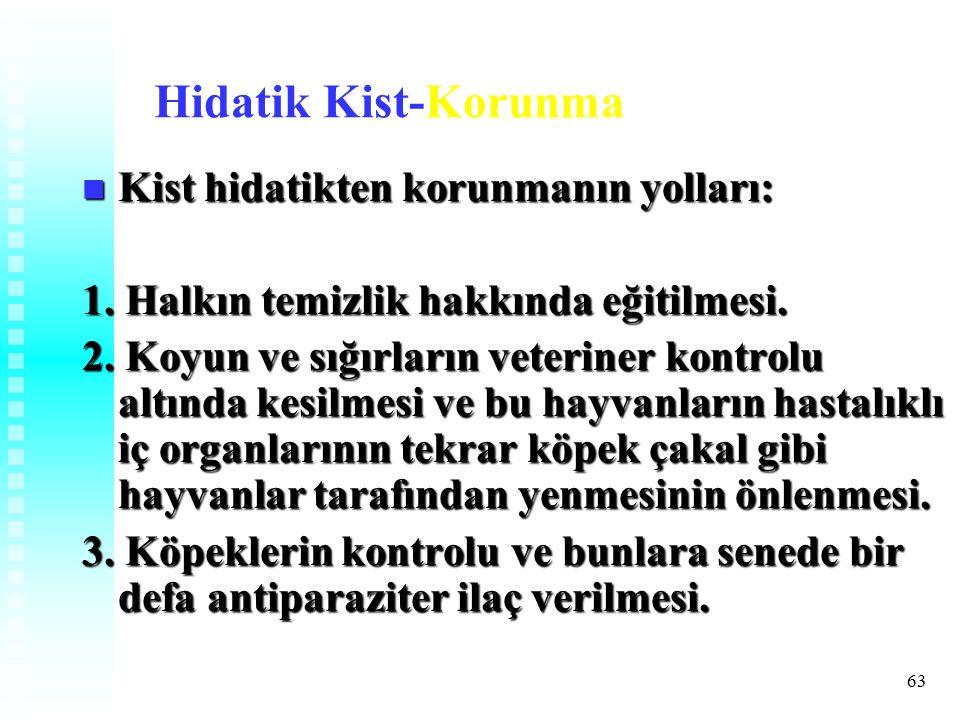 Hidatik Kist-Korunma Kist hidatikten korunmanın yolları: