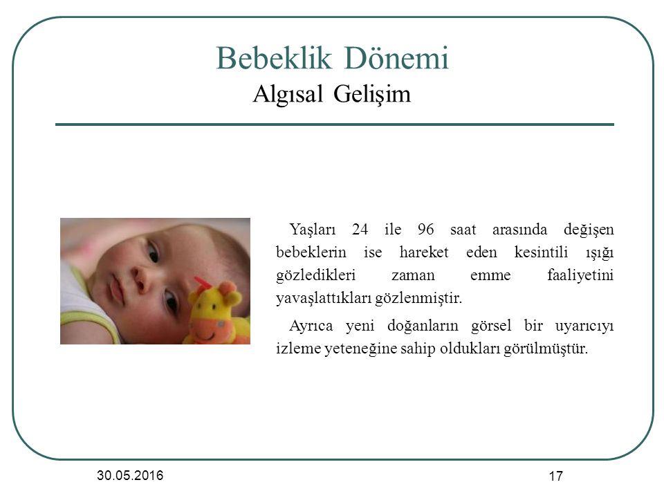 Bebeklik Dönemi Algısal Gelişim