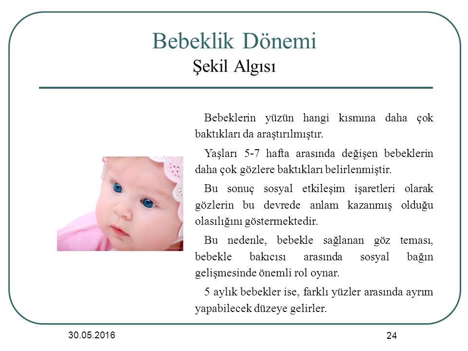 Bebeklik Dönemi Şekil Algısı