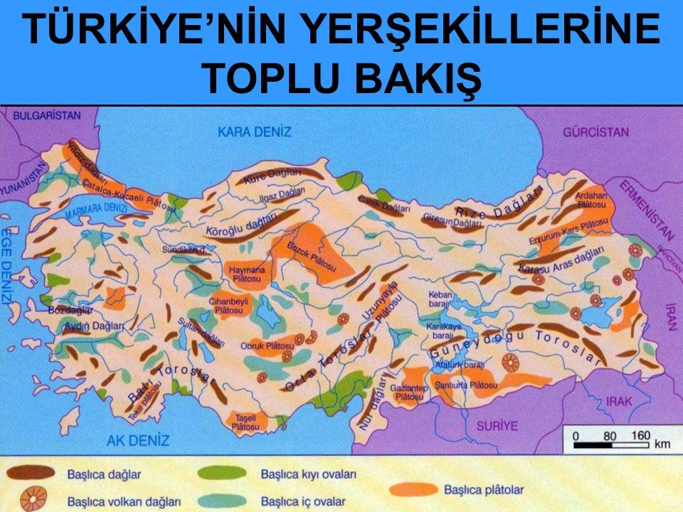 TÜRKİYE'NİN YERŞEKİLLERİNE TOPLU BAKIŞ