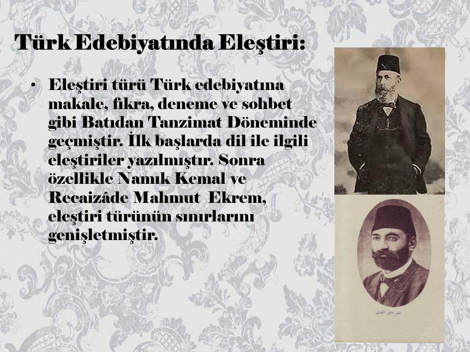 Türk Edebiyatında Eleştiri: