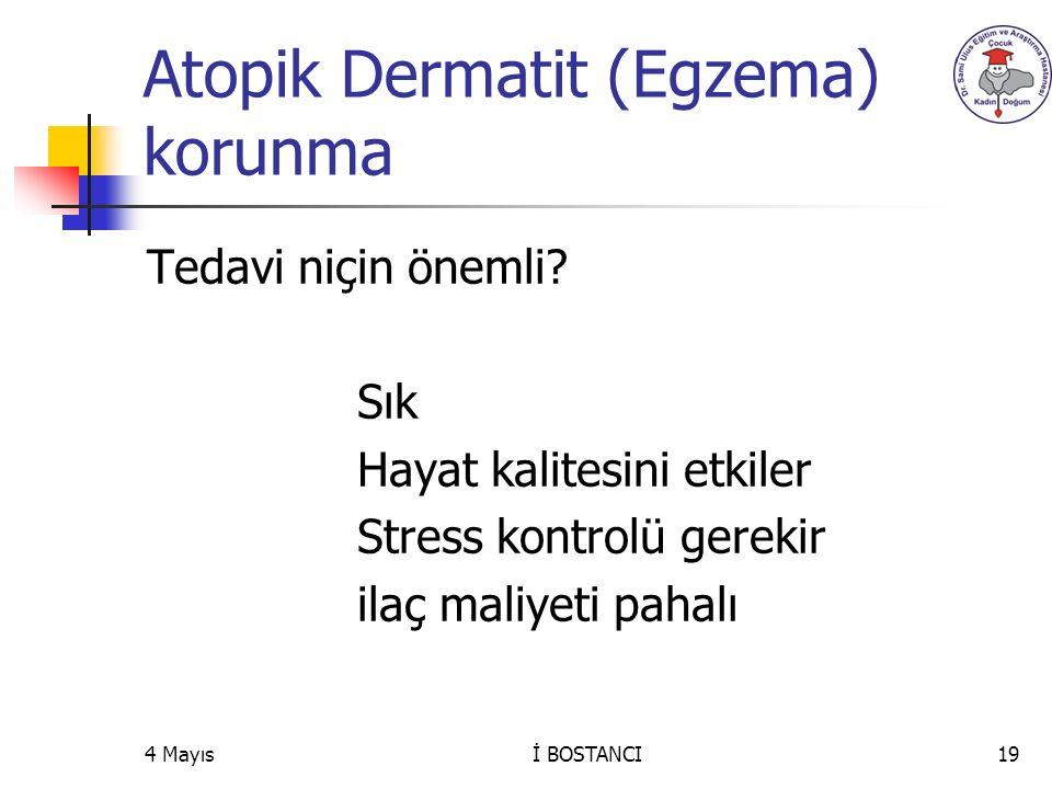 Atopik Dermatit (Egzema) korunma