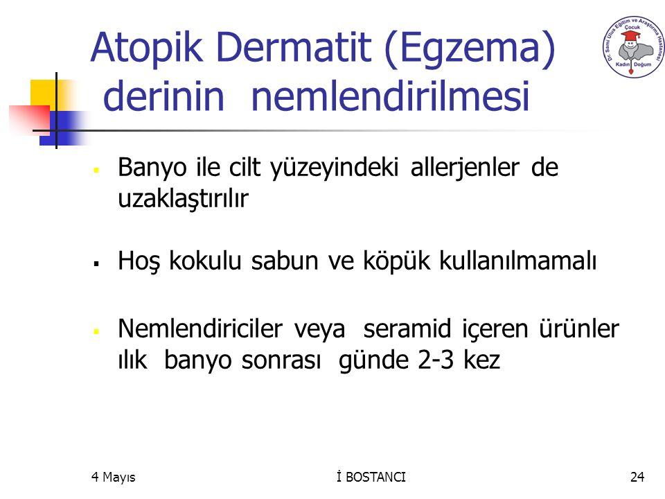 Atopik Dermatit (Egzema) derinin nemlendirilmesi
