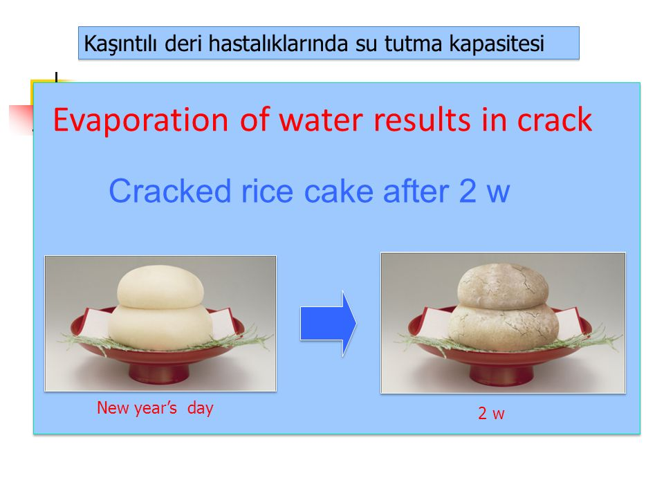 Evaporation of water results in crack