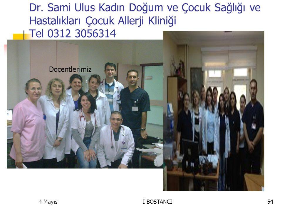 Dr. Sami Ulus Kadın Doğum ve Çocuk Sağlığı ve Hastalıkları Çocuk Allerji Kliniği Tel 0312 3056314