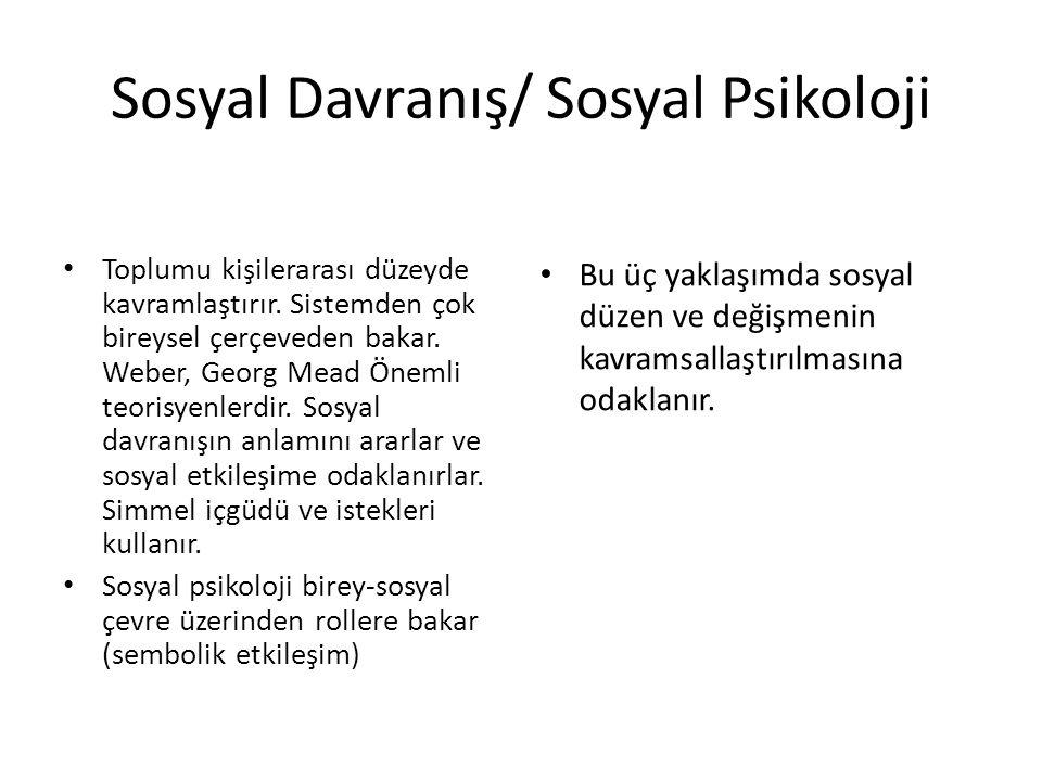 Sosyal Davranış/ Sosyal Psikoloji