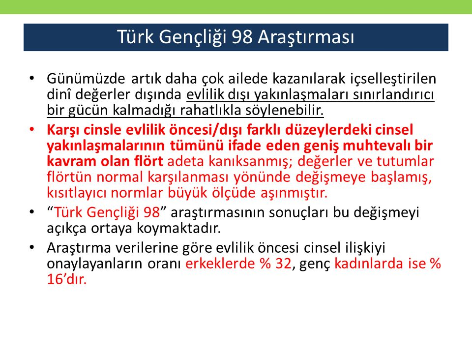 Türk Gençliği 98 Araştırması