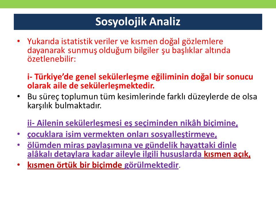 Sosyolojik Analiz