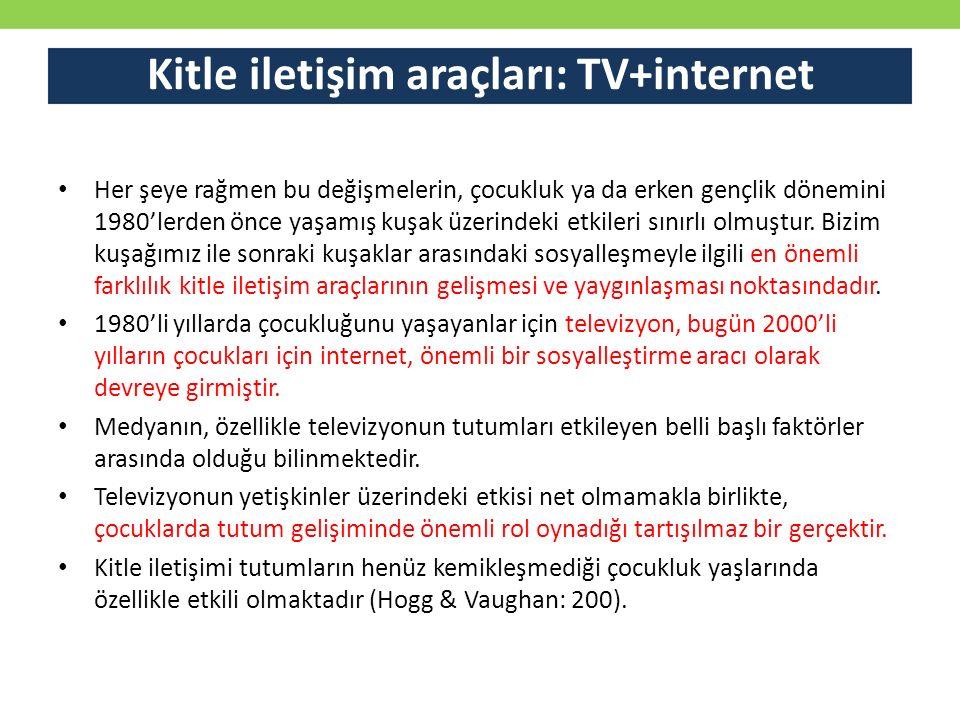Kitle iletişim araçları: TV+internet