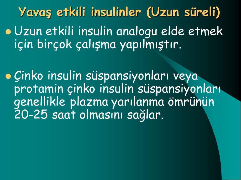 Yavaş etkili insulinler (Uzun süreli)