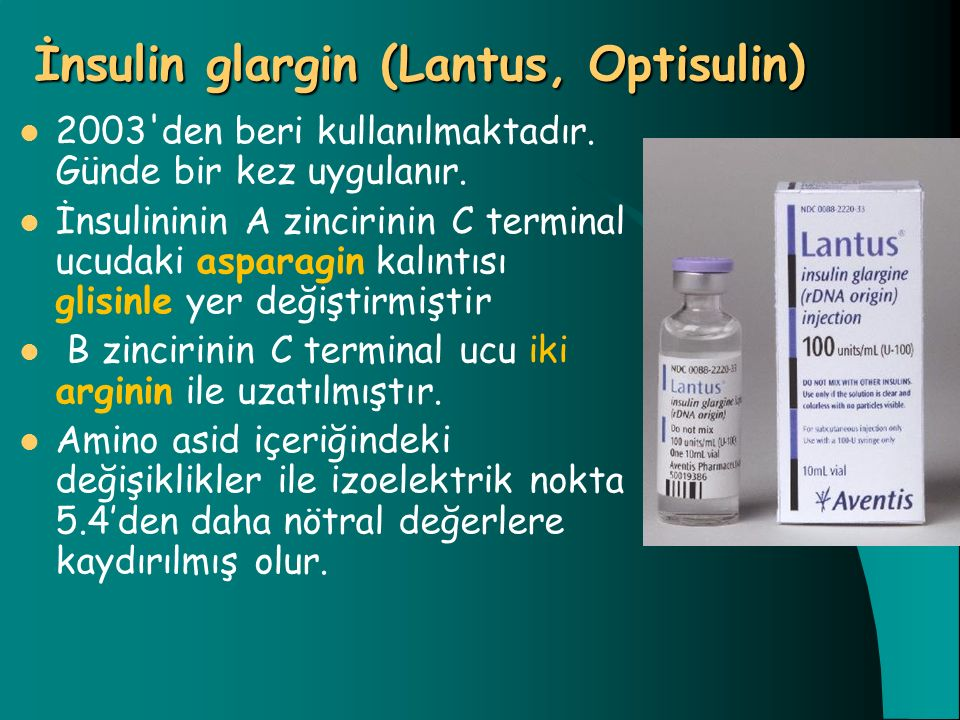 İnsulin glargin (Lantus, Optisulin)