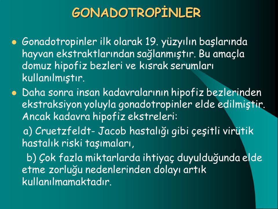 GONADOTROPİNLER