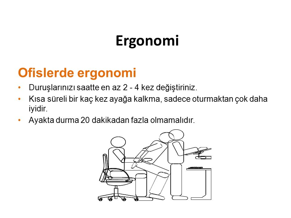 Ergonomi Ofislerde ergonomi