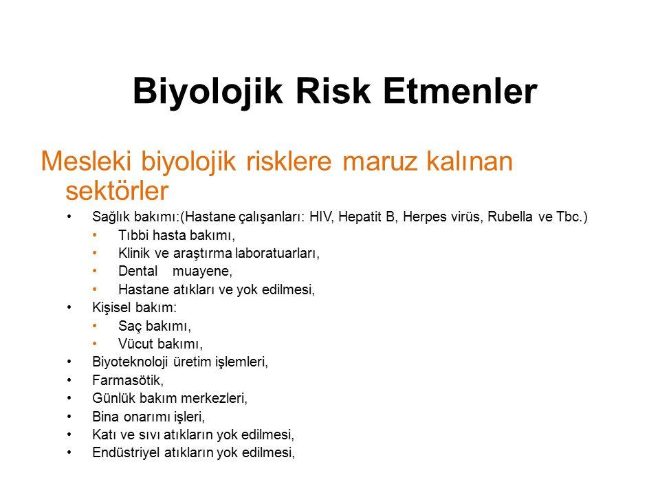 Biyolojik Risk Etmenler
