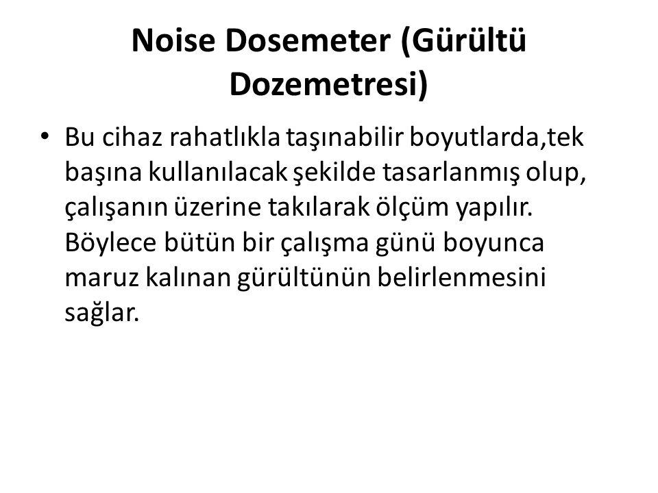 Noise Dosemeter (Gürültü Dozemetresi)