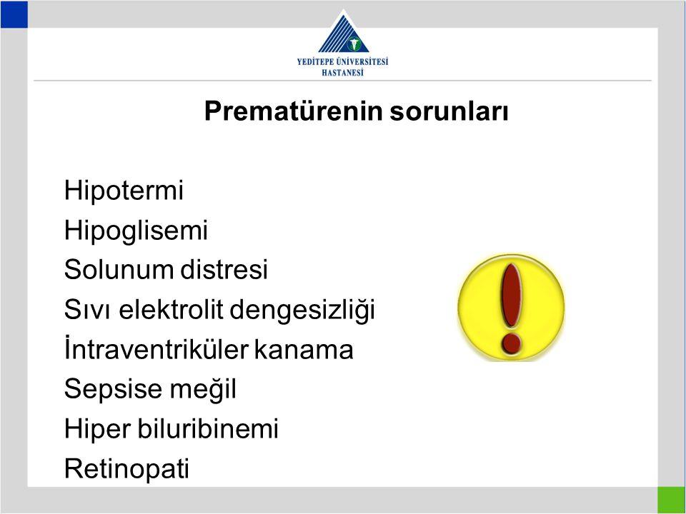 Prematürenin sorunları