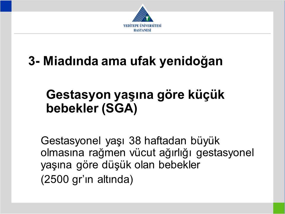 3- Miadında ama ufak yenidoğan