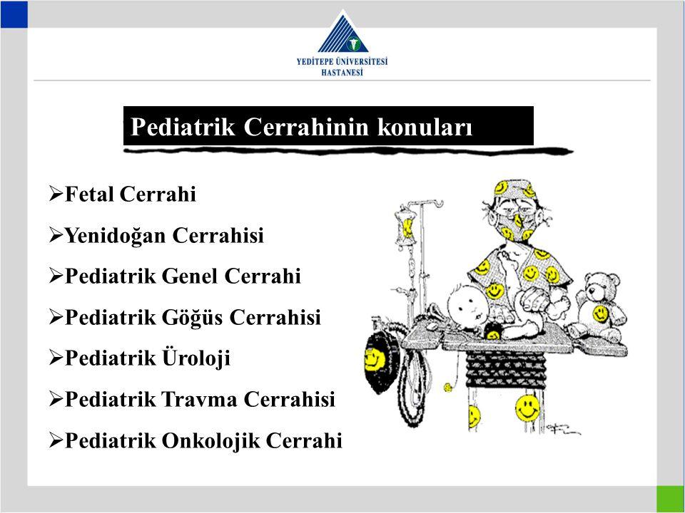 Pediatrik Cerrahinin konuları