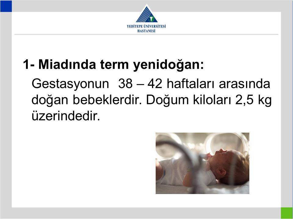 1- Miadında term yenidoğan: