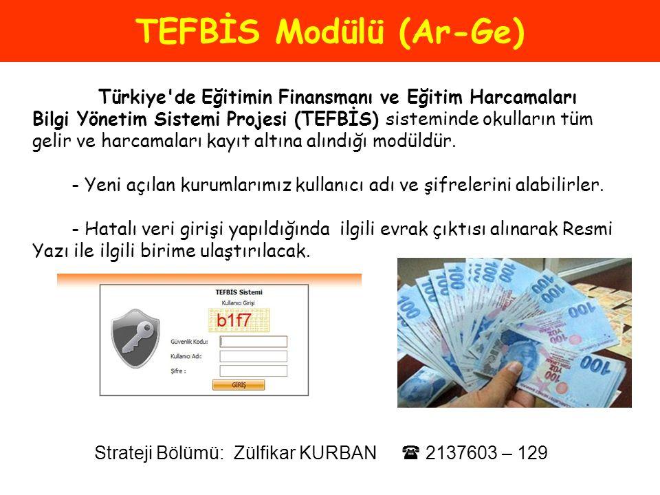 TEFBİS Modülü (Ar-Ge)