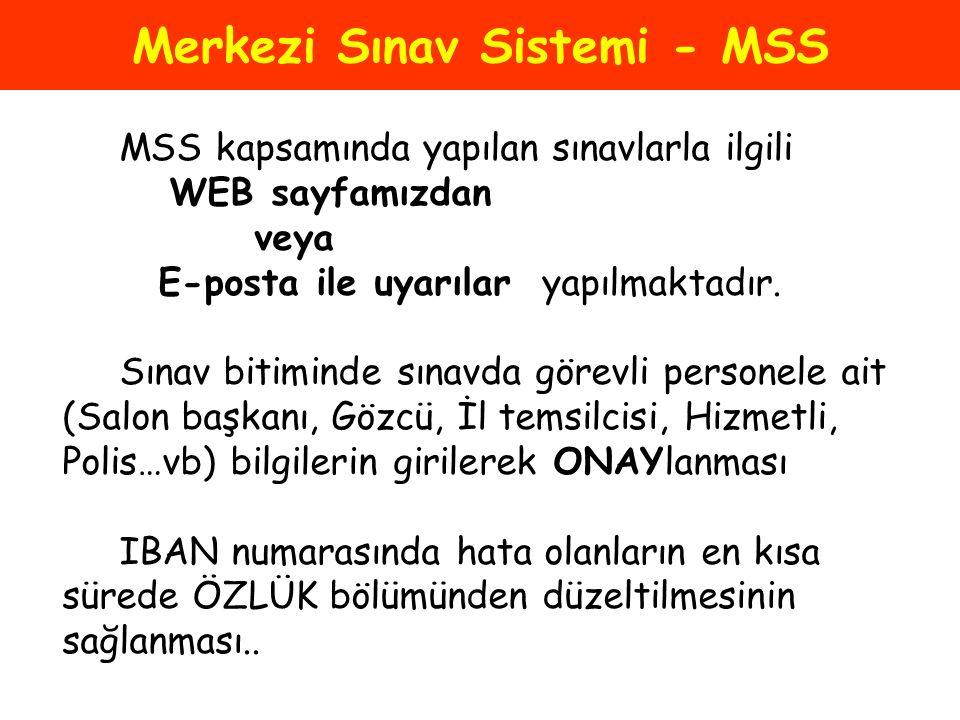 Merkezi Sınav Sistemi - MSS