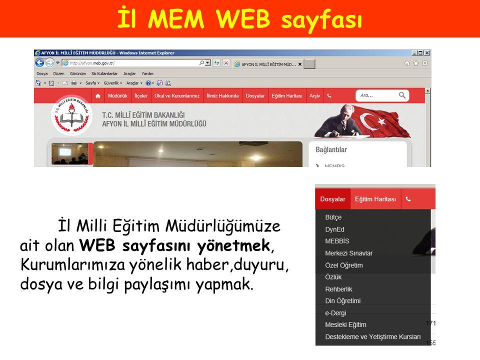 İl MEM WEB sayfası