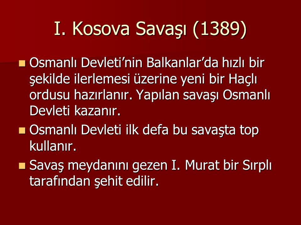I. Kosova Savaşı (1389)